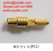 L'or de haute qualité a plaqué le connecteur coaxial 50ohm MCX-J-1.5 de cuir embouti du streight MCX