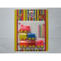 Buy cheap 6 Pcs Colour Mixture Multi Colored Candles Add 6pcs Train Shaped Toy Party Candles product