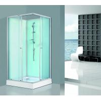 Buy cheap Sliding Open Glass Shower Walls And Doors Silver Aluminum Tempered ABS Tray product