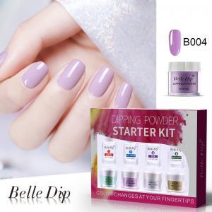Buy cheap OEM DIY nail art long lasting quickly natural dry no need UV light glitter powder nail dip powder set 10g 15ml product