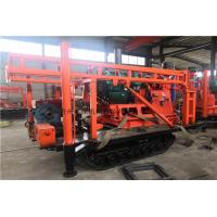 Buy cheap Diesel Hydraulic Geological Drilling Rig Machine / Crawler Mounted Core Drilling Rig product