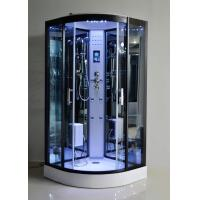 Buy cheap Black Glass Steam Shower Bath Cabin 1000 * 1000 With Computer Control product