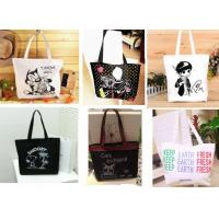 Buy cheap Recyclable Fashion Handle Canvas Shopping Bag product