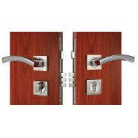 Quality Chrome Lever Handle On Rose Mortise Lockset Replacement Zinc Alloy for sale