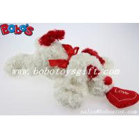 Buy cheap Bobo's Plush White Lying Dog Animal With Red Heart Pillow In Wholesale Price product