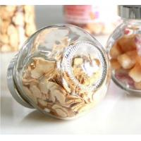China Glass storage jar with electroplating acrylie lid top Food Grade Glass Candy Jars small glass jar on sale