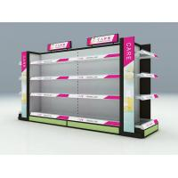 Buy cheap Metal Material Cosmetic Display Racks / Makeup Display Shelves With Adjustable Layer product