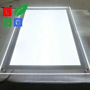 Rectangle LED Crystal Light Box Customized Size LED Menu Display Energy - Saving