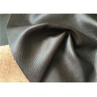 Automotive leather with grain made with natural leather fibres and water power