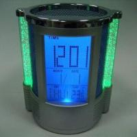 Buy cheap Color Lights Calendar Pen Holder with Alarm Clock, Music Alarm and Snooze Mode product