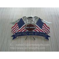 China Enamel national flag lapel pin, American flag and eagle emblem lapel pin butterfly clutch, wholesale