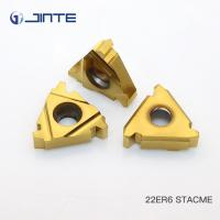 Buy cheap Cemented Carbide Indexable Threading Inserts , Thread Turning Tools 22ER6 STACME product