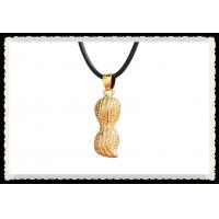 Buy cheap Charming 24K Gold Plated Jewelry With Gift Box , 24Kt Gold Peanut Pendant For Lover product