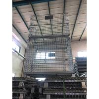 Buy cheap Electro Galvanized Q235 Steel Wire Containers For Supermarket Warehouse product