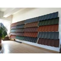 Buy cheap metal roof tile metal roof panel stone coated metal tile roof product