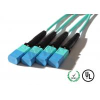 Buy cheap 8 Core Multimode Fiber Optic Cable OM 1 / 2 / 3 / 4 , MPO Fiber Connector Length Customized product