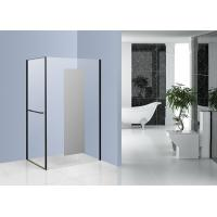 Chrome Side Pivot Open Corner Entry Shower Enclosures 1200 x 800 with Mirror Glass
