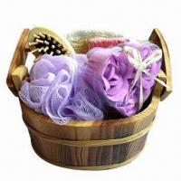 Buy cheap Bath Gift Set, Made of Wooden, OEM Orders are Welcome, Graceful Design product