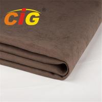 Buy cheap Width 145cm Weight 280gsm Waterproof Sofa Suede Fabric With TC Backing from wholesalers