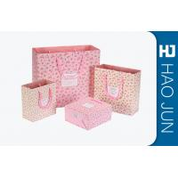 Buy cheap Custom Boutique Shopping Bags 100% Recyclable Gift Paper Bags Pink Color product