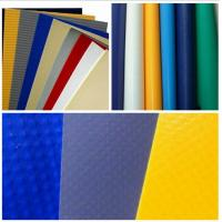 Buy cheap Side Curtain PVC Tarpaulin Fabric PVC Tarp With Eyes , High Tensile PVC Sheet product
