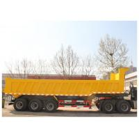 Quality Garden cargo Landscape use side / End dump trailer with Hydraulic Cylinder Lifting system for sale