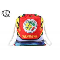 Buy cheap Printed Cotton Rope Drawstring Bookbag , Large Sized Sports String Strap Backpack product