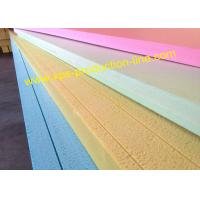 Yellow / Blue / Green / Pink Styrofoam Insulation Sheets With Waterproof Package