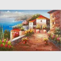 Buy cheap Mediterranean Sea Oil Painting Impression Coastline Landscape Painting for Decor from wholesalers