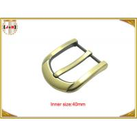Buy cheap 40mm Customized Fashion Gold Zinc Alloy Pin Belt Buckle Manufacturers product