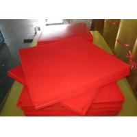 Buy cheap Bendable Virgin Polyurethane Plastic Sheets For Paper Making , Red PU Sheets from wholesalers