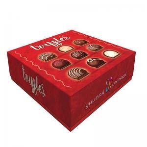 folding lid and base truffle cake paper box  foldable food bakery gift box