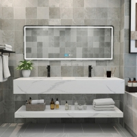 Buy cheap Integrated Engineered Stone Bathroom Vanity Tops 1000*560MM product