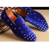 Buy cheap Red Velvet Punk Style Rivet Loafer Slip On Shoes Lightweight For Spring , Summer from wholesalers