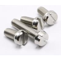 China 18-8 Stainless Steel Slotted Drive Fillister Head Screws ASME B18.6.3 Slotted Drive Fillister Head Slotted Screws on sale