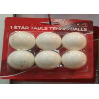 Buy cheap Professional 1 star ABS 40+MM Table Tennis Balls 6 PCS Heat Seal Clam Packing For Training product