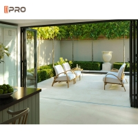 Buy cheap 6063 T5 Modern frameless slide and fold doors Save Space Partition product