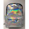 Customized Logo Laptop Messenger Bags Laser PU Hologram Backpack PU Material for sale