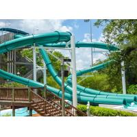 Buy cheap Adults Outdoor Spiral Water Slide 4 Riders Load For Water Sport Games product