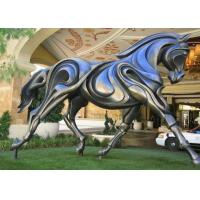 Outdoor Horse Statues , Bronze Running Horse Sculpture Contemporary Design