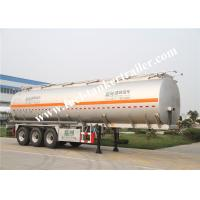 China European Standard Three Axles Aluminum tank trailer for fuel delivery trucks wholesale