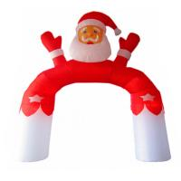 Customized Family Holiday Party Decoration Inflatable Santa Claus Arch