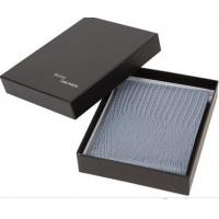 Quality luxury black two pieces wallet packaging box Custom lid and base rigid wallet gift box for sale