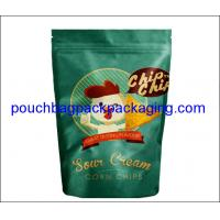 Buy cheap Stand up foil pouch with zip lock for Snow cream corn chips, aluminium doypack for chips product