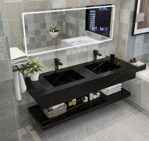 Buy cheap Engineering Stone Integrated Bathroom Vanity Countertops product