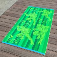 Buy cheap Full Color Printed Jacquard Beach Towel Luxurious Feel With Ninja Turtle Patterns product