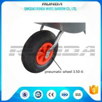 Buy cheap Light Duty Small Size Pneumatic Swivel Wheels 25% Rubber Contain For Wheelbarrow product