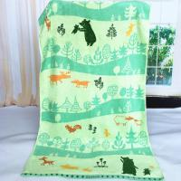 Buy cheap Custom Forest Jacquard Woven Velvet Beach Towels Canada Heavy Weight 550gsm product