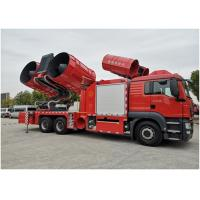 Buy cheap Maximum Exhaust Volume 1200000m^3/H Large Smoke Exhaust Fire Truck 28t Weight product