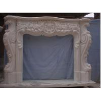 Quality Marble Fireplace Flowers Design for sale